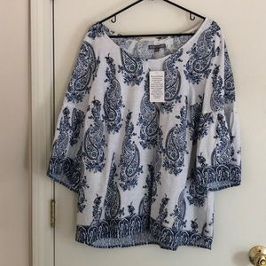 NWT Paisley Top, Jessica London, Size 20W